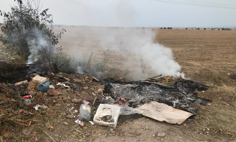 Пушещо бунище налази шосето на Григорево